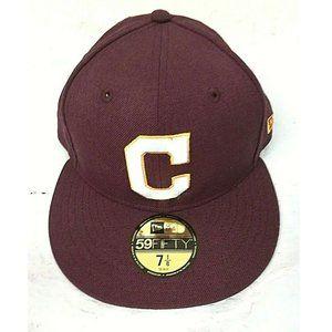 New Era MLB Cleveland Indians 59FIFTY Hat Maroon